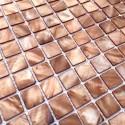 mosaic of Pearl tile shower bath Pearl Nacarat Marron