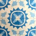 vrai carreaux de ciment mur et sol cuisine 1m2 modele ferret-bleu