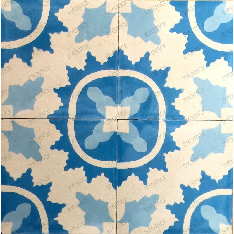 Cement tiles 1sqm model ferret-bleu