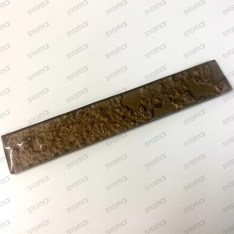 carrelage de verre pour mur modele lupo marron