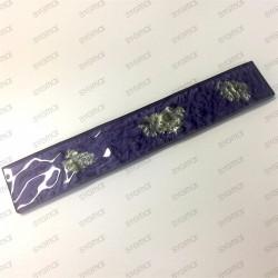 azulejos en el oro de cristal metálico plano lupo violet
