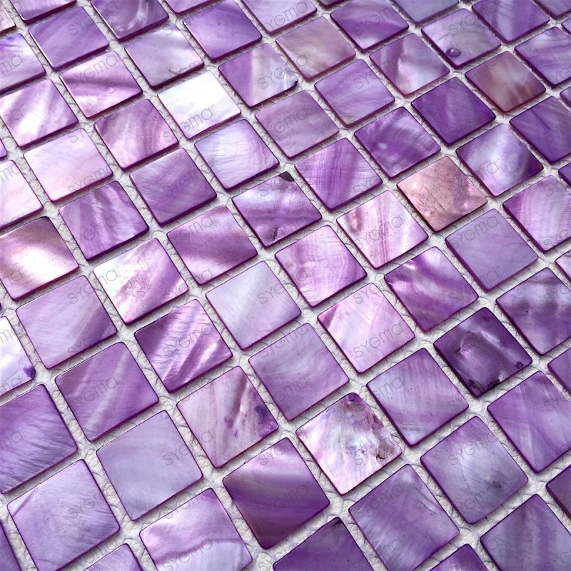 azulejo de mosaico de perlas perlas de baño 1m2 odyssee-violet