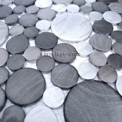 backsplash kitchen aluminium mosaic shower aluminium 1 sqm loop-grey