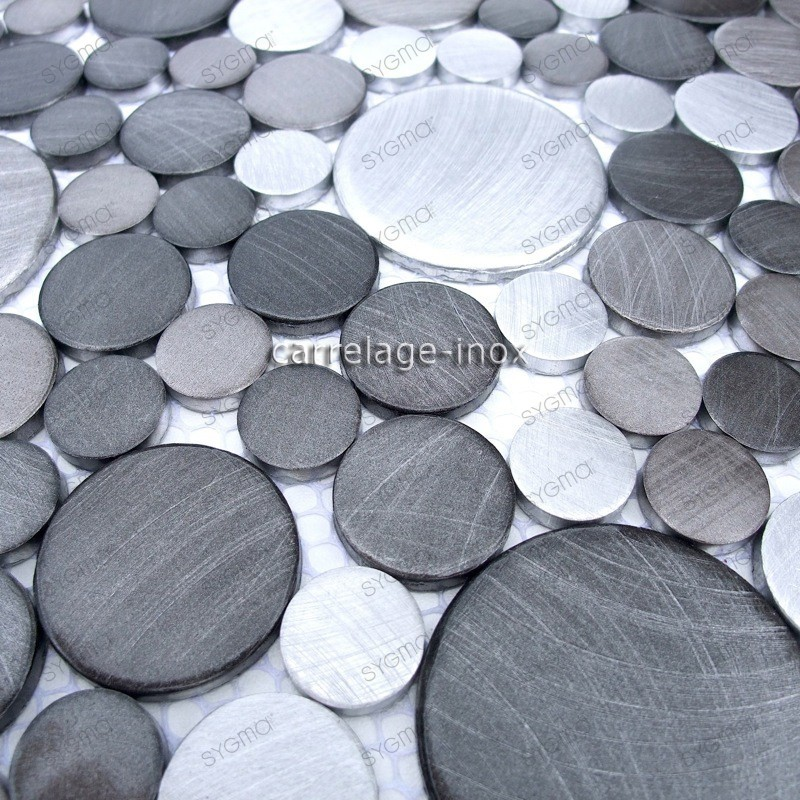 mosaico aluminio frente cocina ducha baño 1m2 cm-loop-gris