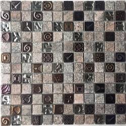 Mosaique de pierre pas cher pour mur modele 1m-stacka