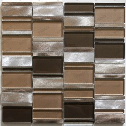 backsplash kitchen aluminium mosaic shower aluminium 1 sqm cetimarron