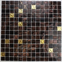 Glass mosaic floor and wall goldline-vog