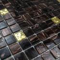 Mosaico pasta de vidrio, azulejo pasta de vidrio 1 placa modelo GOLDLINE-VOG