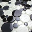 Mosaico Piso de guijarro y de pared para ducha y baño RONDA
