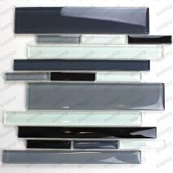 Mosaico de vidrio para muro de cocina y bano mv-filio