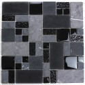 Mosaic glass and stone bathroom wall and floor mp-shadow