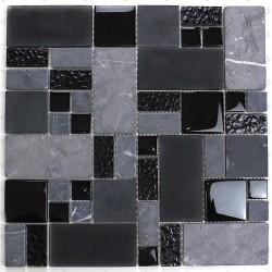 Carrelage mosaique mur et sol verre et pierre mp-shadow
