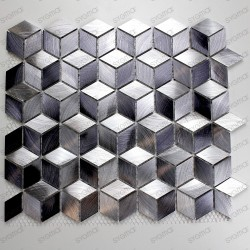 Aluminium mosaic wall backsplash kitchen and bathroom HIBA