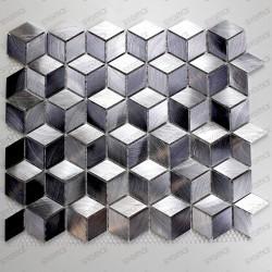 mosaico aluminio muro cocina ducha y baño HIBA
