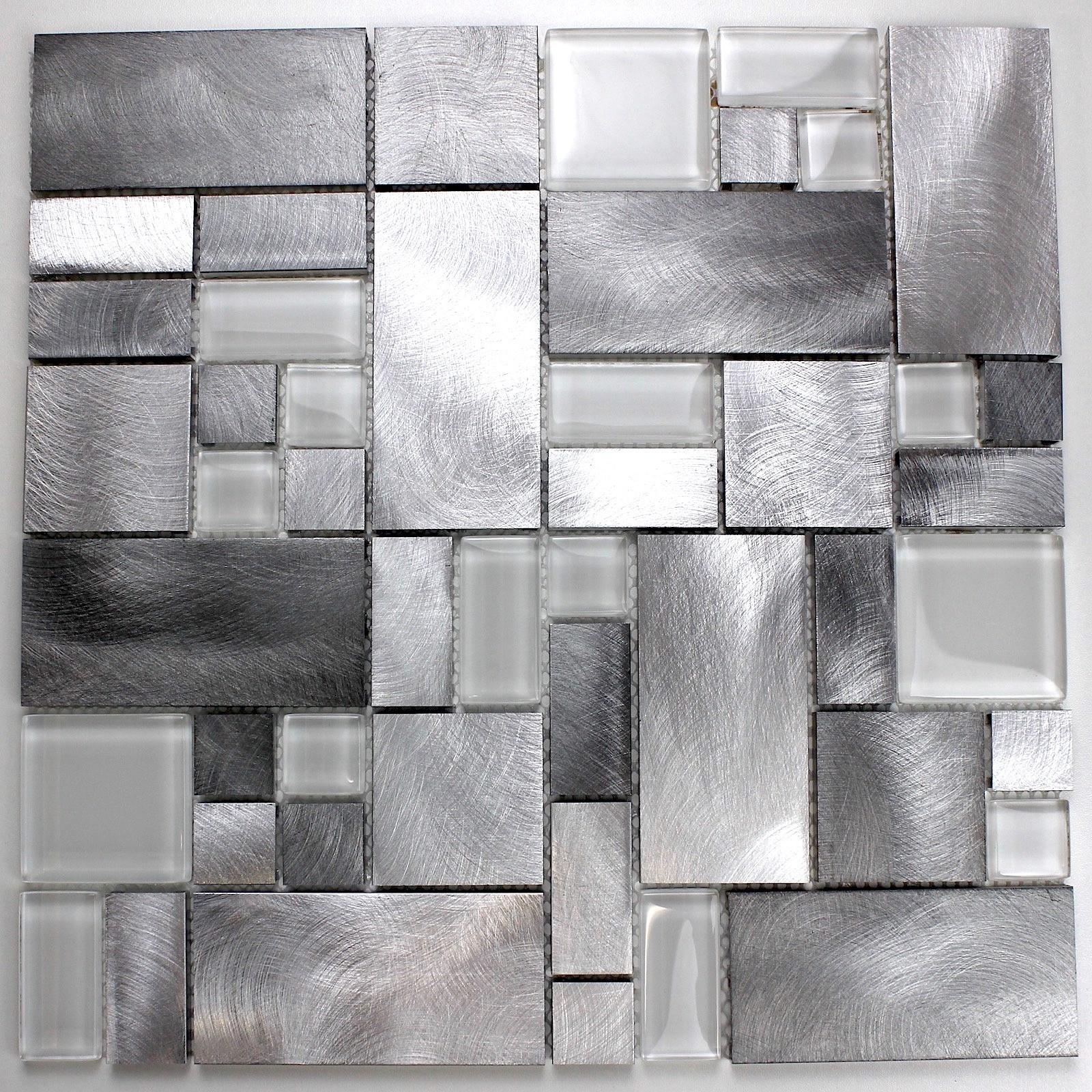 mosaico azulejo aluminio muro cocina ducha y baño ASPEN - carrelage ...