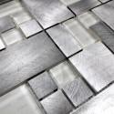 Mosaique carrelage aluminium mur et sol aspen