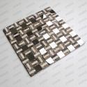 azulejo mosaico de marmol y acero mp-lotta