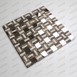 Mosaique carrelage marbre et inox mp-lotta