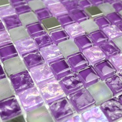 sample glass mosaic for floor shower wall bathroom harris violet