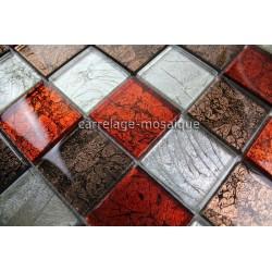 muestra mosaico vidrio para suelo y muro de ducha modelo candy noir