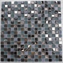 Mosaique noir de verre et pierre mvp-galb