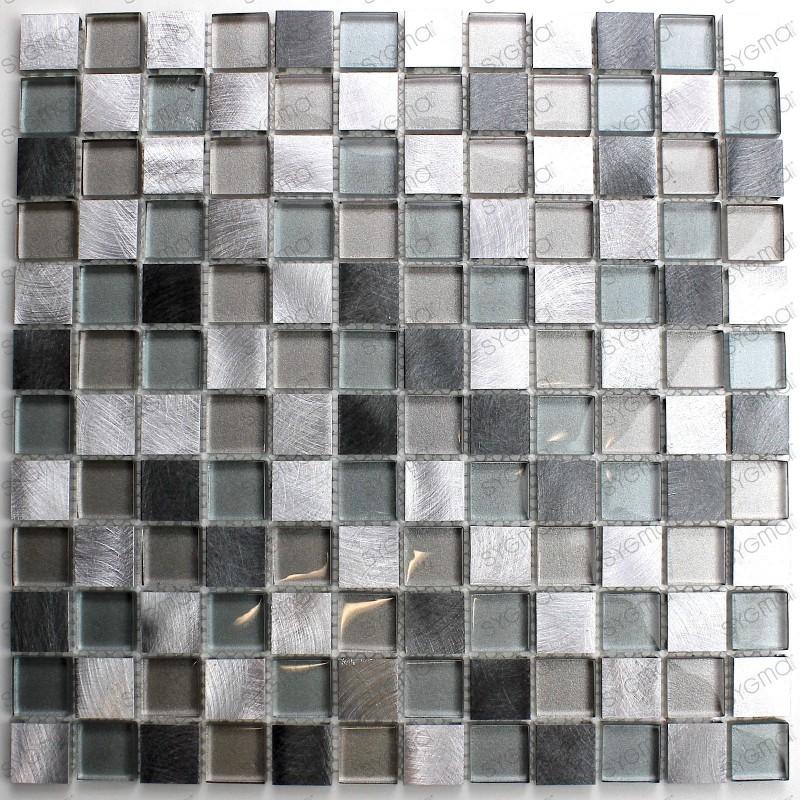 Mosaico azulejo aluminio muro cocina ducha y ba o heho - Azulejo mosaico bano ...