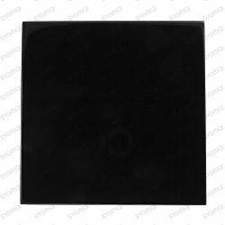 glass backsplash tiling kitchen quadro 100 black