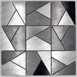 Mosaico en acero inoxydable cocina bano LOKA