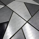 Tile mosaic stainless steel backsplash sierra