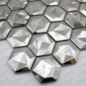 mosaico acero inoxidable cocina ducha Kami
