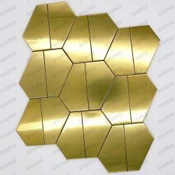 mosaico en acero inoxydable cocina baño cm-cedar-gold
