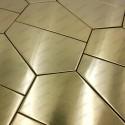 mosaico en acero inoxydable cocina baño cm-GALET MIROIR