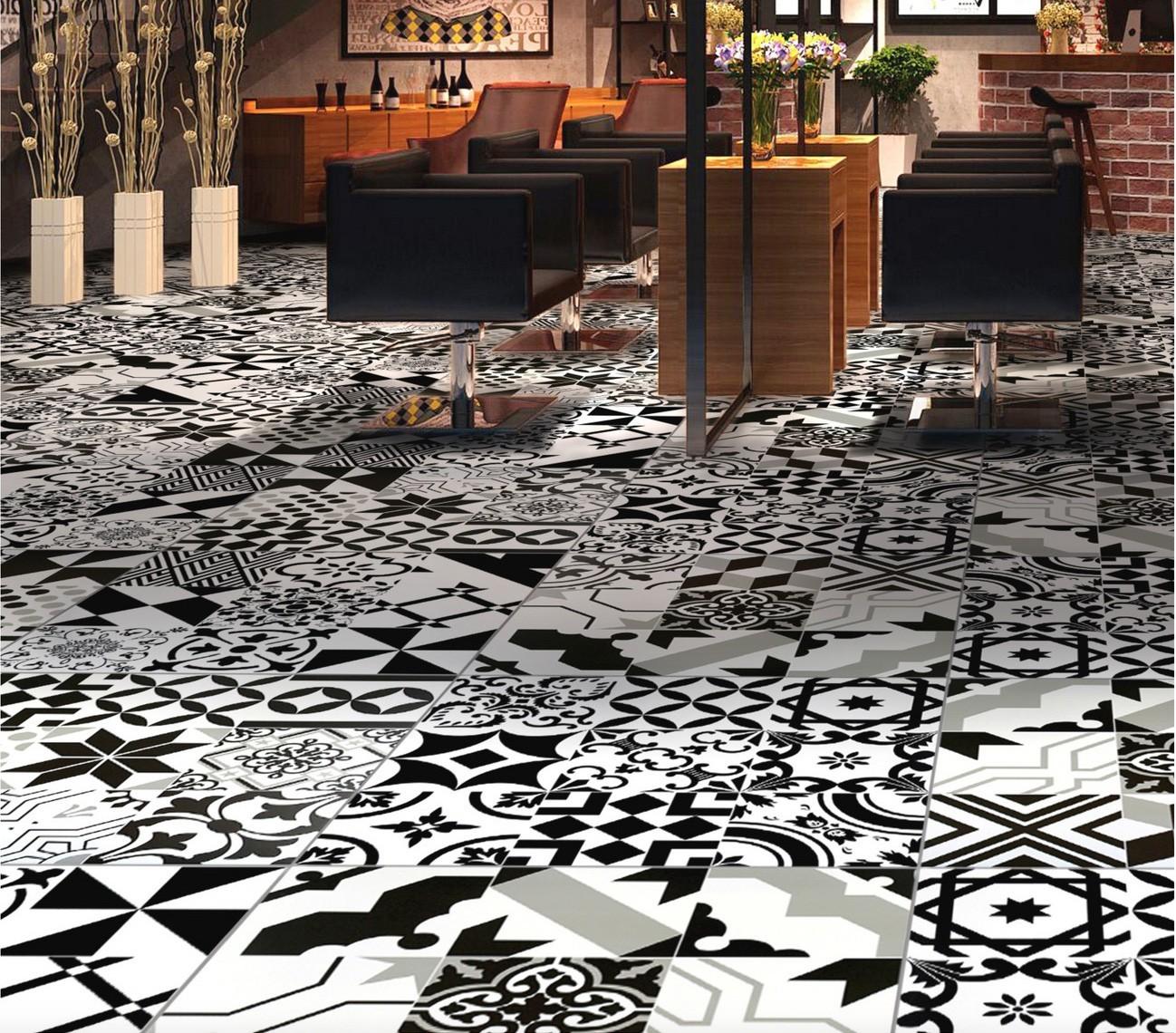 Epaisseur Carreau De Ciment patchwork carreaux ciment imitation crédence cuisine, fond de hotte zeal