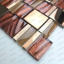 1sqm Glass mosaic aluminium tile wall for kitchen and bathroom mv-glit