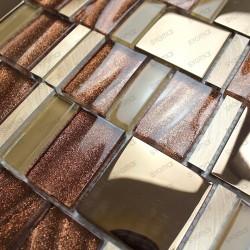 mosaique aluminium douche salle de bain mur mv-glit 1m2