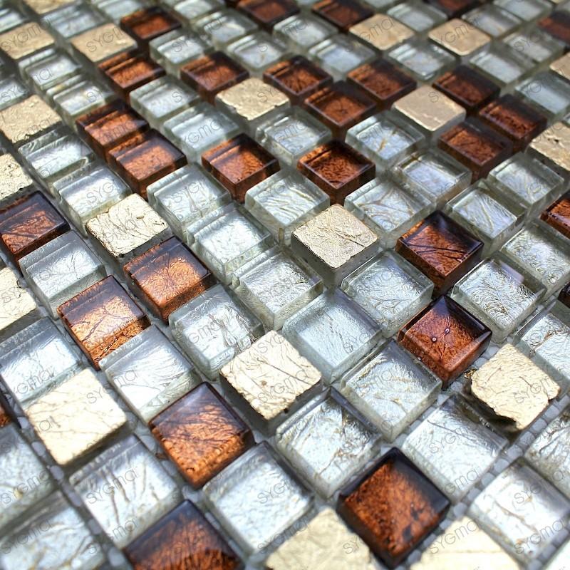 Mosaico de vidrio y piedra para cuarto de baño mvp-siam