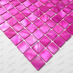 mosaic of Pearl tile shower bath Pearl 1m Nacarat Rose