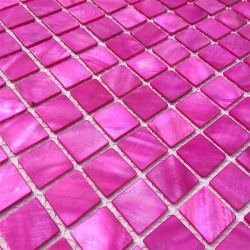 mosaic of Pearl tile shower bath Pearl 1m Nacarat Rose