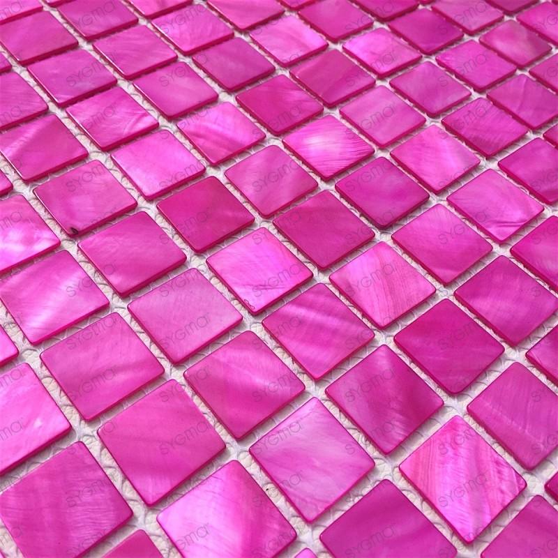 Mosaique nacre pour douche salle de bain credence odyssee for Mosaique salle de bain rose