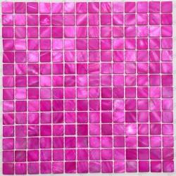mosaique de nacre pour douche et salle de bain 1m Nacarat Rose