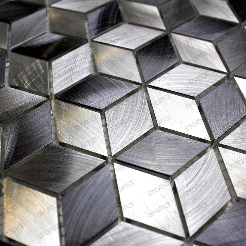 Aluminium mosaic wall backsplash kitchen and bathroom HIBA 1sqm