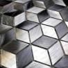 Mosaique aluminium mur et sol douche cuisine hiba 1m2