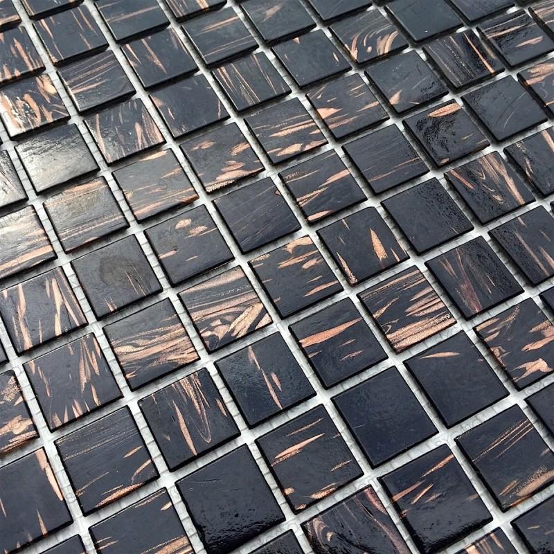 Mosaico pasta de vidrio, azulejo pasta de vidrio 1 placa modelo VITRO NOIR