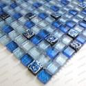Mosaique bleu de verre et pierre mp-eaton