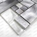 Aluminium mosaic wall backsplash kitchen and bathroom ASPEN 1sqm