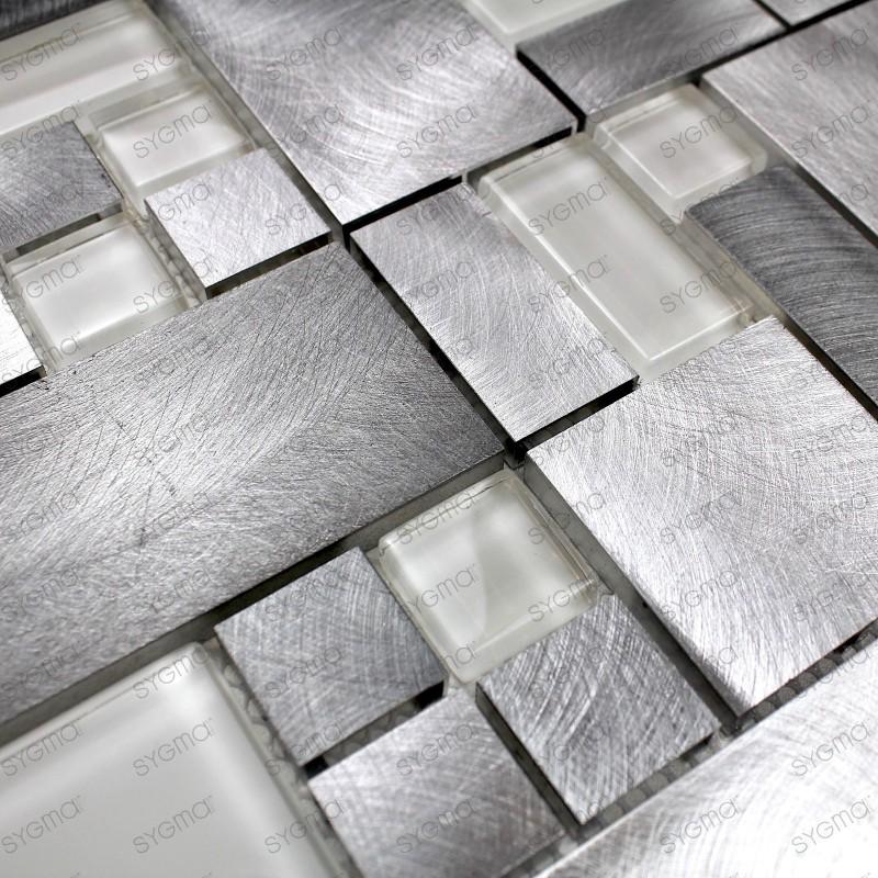 Mosaique aluminium carrelage cuisine douche salle de bain - 1m2 en cm ...