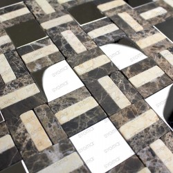 Mosaic marble and stainless mp-lotta 1sqm