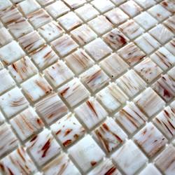 carrelage douche mosaique piscine salle de bain Vitro blanc 1m2