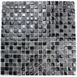 Mosaique noir en verre et pierre mvp-shiro