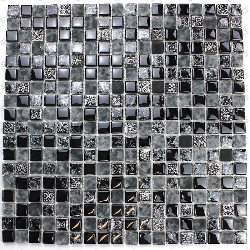 mosaique douche salle de bain cuisine shiro 1m2